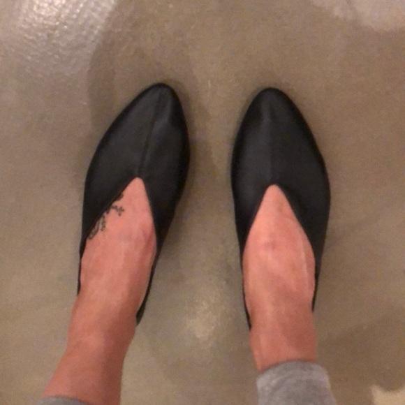 Zara Trafaluc black leather flats